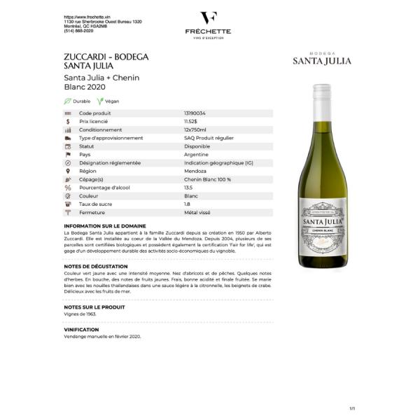 fiche vin blanc
