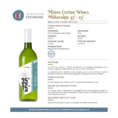 fiche vin blanc Minos Cretan grec